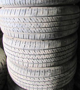 4 good used tires 15 inch=P195=65=15===75-85% Tread Remaining