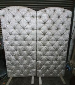 2 x velvet freestanding silver boards
