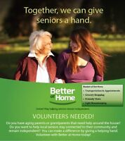 Volunteer posting for Better at Home program 留在「家」更好義工招募計劃
