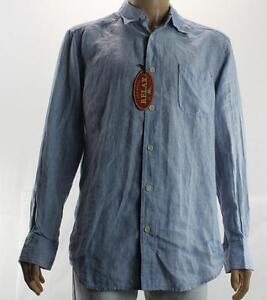 NEW TOMMY BAHAMA MENS BUTTON-FRONT L/S SHIRT SZ L LIGHT BLUE  $98