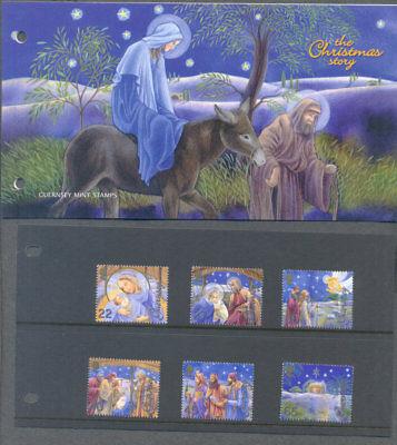 Guernsey-Christmas Story 2002 set & Pack mnh