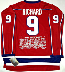 BELIVEAU-RICHARD-LAFLEUR MONTREAL CANADIENS CAREER STATS JERSEY
