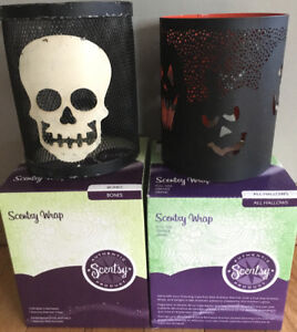Scentsy Wraps Bones & All Hallows(wraps only no warmer)