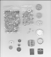 watch parts, faces material for steampunk