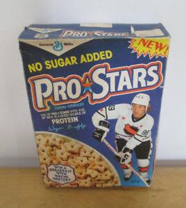 1989 Vintage Wayne Gretzky Pro Stars Cereal Box - FULL