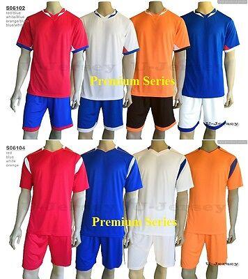 5 Sets Premium Soccer Jersey Shorts Orange Red Blue White  FREE PRINT   S06102 4 535c110e57385