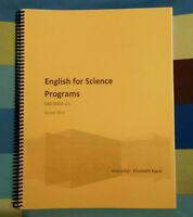 English for science program 603-BMA-LA - Elizabeth Koper
