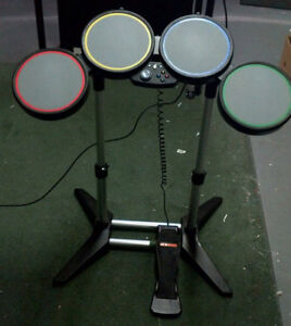 XBOX 360 Wired Drum set and AC/DC game, 3 Port Hub
