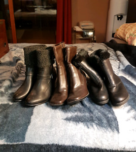 3 Pairs of Woman's Winter Boots