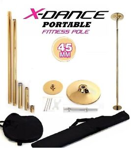 45 mm X Dance Pole Profesional Exotic Removable 9 feet GOLD