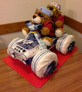 TWINS 4 WHEELER BABY SHOWER GIFT