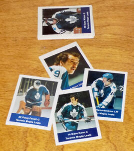 LOBLAWS NHL ACTION 1974-75 — MORE THAN 100 TORONTO MAPLE LEAFS