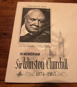 1965 Sir Winston Churchill in Memoriam 5 Cent First Day Cover Kitchener / Waterloo Kitchener Area image 3