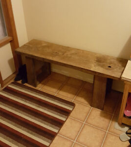 Barn board bench/ hallway table.