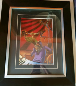Framed musician picture