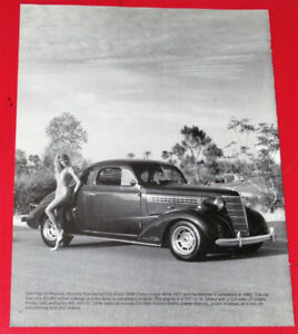 1990 PICTURE - VINTAGE 1938 CHEVY HOT ROD COUPE RETRO AMERICAN
