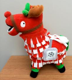 Rare Christmas edition Fortnite Llama plush