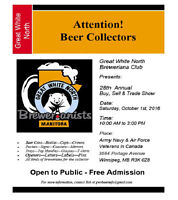 Great White North Breweriana Club's 28th Annual Beer Show