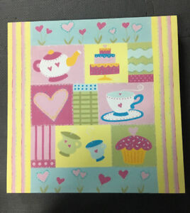 Tea Party Canvas Art and Closest Organizer