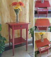 Beautiful in Red! 1-Drawer Night Stand / End Table