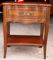 VINTAGE MALCOLM FRENCH PROVINCIAL SINGLE DRAWER NIGHTSTAND