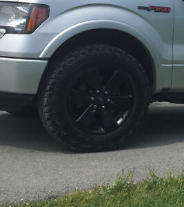 Black F150 Rims and tires