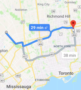Monthly Carpool Rideshare Brampton to Markham