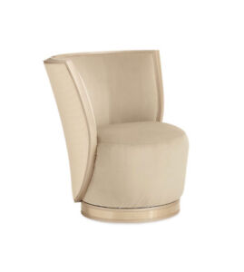 ELEGANT AND SOPHISTICATED BARREL HIGH BACK CHAIR WITH GOLD TRIM