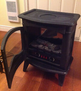 Electric Heater with wood stove design