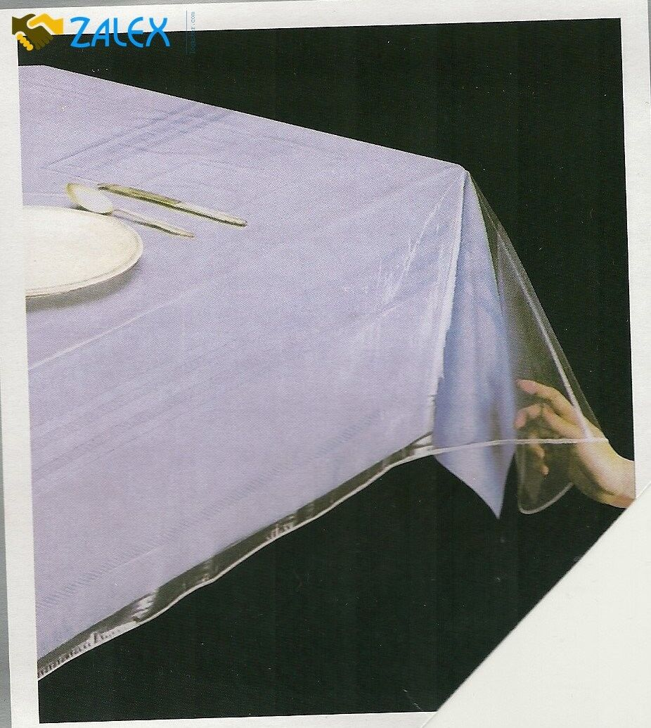 Clear Vinyl Tablecloth Durable Plastic Table Cover Spills
