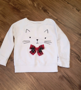 childrens place cat sweater