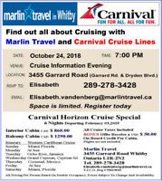 Carnival Cruise Information Evening