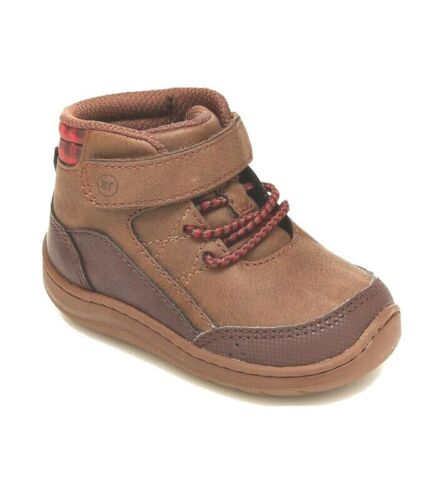 Stride Rite Infant Toddler Boys Leopold Boots Brown NIB Reg/Wide capable 3m, 5m