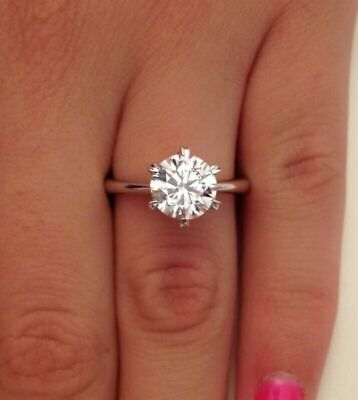 Used, 2.00 Ct Round Cut&lab-created Diamond Engagement Ring 18 K White Gold for sale  Shipping to South Africa