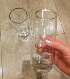 Pair of gold gilt rimmed glasses