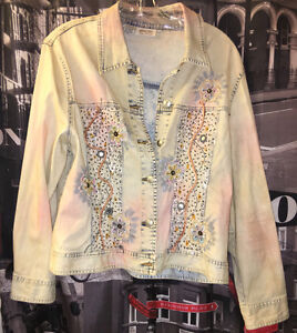 (2) JEAN BLING JACKETS OR USE AS TOPS