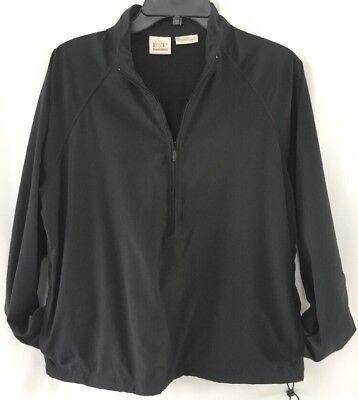 EP Pro Golf  Womens Jacket Sz M Black Half Zip Pullover Lined Wind Breaker  ()