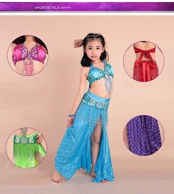 Luxury Indian Dance Costumes Beautiful Child Belly Dance Children Fashion suit - Baby Belly Costume