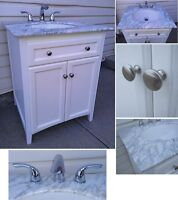 Brand New! 3-Piece Vanity + Sink + Faucet, Rona Collection