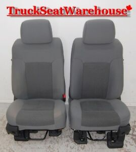 Ford F250 Super Duty Truck 2011 Grey Cloth Front Seats F350 F450