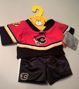 New Hockey NHL Flames Build A Bear Workshop Jersey Shirt Pants