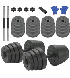 Brand New Deluxe 20/30Kg Dumbbells Pair of Weights Barbell/Dumbell Body Building Set Gym Kit