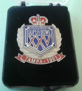 XXV Super Bowl Pin Tampa 1991