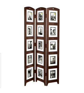 Triple panel picture frame