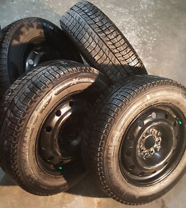 215/60 R16 Michelin X-Ice Winter Tires and Steel Rims