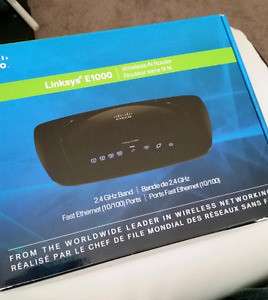 Linksys E100 wireless router
