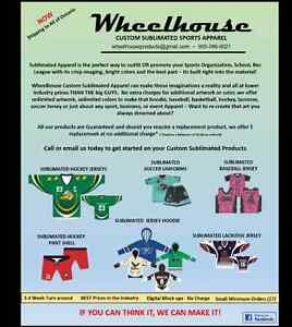Wheelhouse Custom Sublimated Sports Jersey & Apparel