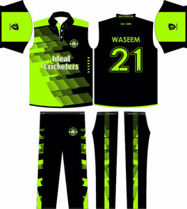 BLACK ASH CUSTOM CRICKET TEAM JERSEY UNIFORM