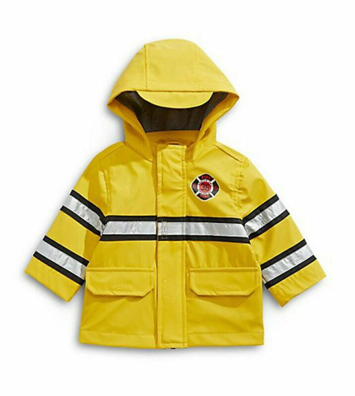 London Fog Boys Yellow Fireman Rainslicker Jacket Size 2T 3T 4T 4 5/6 7