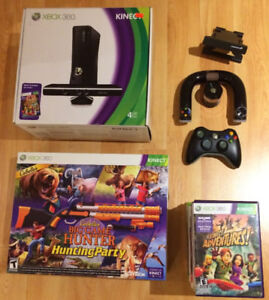 XBOX 360 Console with Kinect and Games for Sale